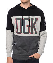 DGK MVP Jersey Black & Red Hooded Shirt