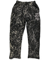 DGK Making Something Black Bleach Fleece Sweat Pants