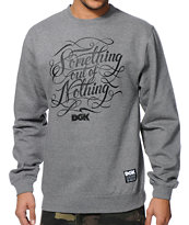 DGK Motto Grey Crew Neck Sweatshirt