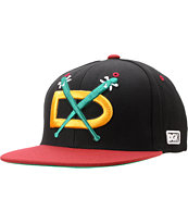 DGK Night Hawks Black & Cardinal Red Snapback Hat