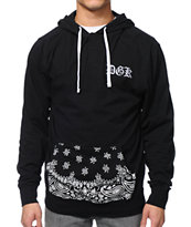 DGK OG Black Long Sleeve Hooded Henley Shirt