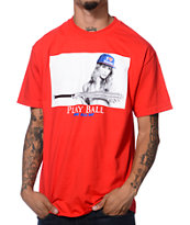 DGK Play Ball Red Tee Shirt