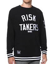 DGK Risk Takers Black & White Crew Neck Sweatshirt