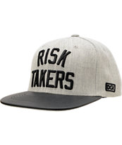 DGK Risk Takers Grey & Black Snapback Hat