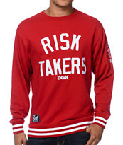 DGK Risk Takers Red Crew Neck Sweatshirt