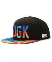 DGK Rough Black & Tie Dye Snapback Hat