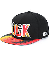 DGK Rough Tie Dye Snapback Hat