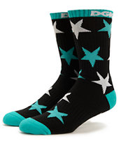 DGK Shooter Black & Teal Crew Socks