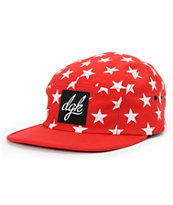 DGK Shooter Red 5 Panel Hat