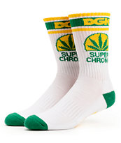 DGK Superchronic White & Green Weed Leaf Crew Socks