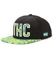 DGK THC Black & Green Snapback Hat