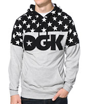 DGK Tycoon Black & Grey Long Sleeve Hooded Knit Shirt
