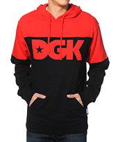 DGK Tycoon Red & Black Pullover Hoodie