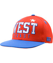 DGK West Coastal Red & Blue Snapback Hat