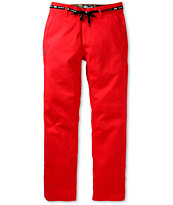 DGK Working Man 4 Red Regular Fit Chino Pants