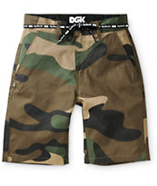 DGK Working Man Camo Chino Shorts
