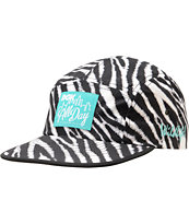 DGK Zebra Print Black & White 5 Panel Hat