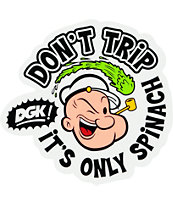 DGK x Popeye Don't Trip Sticker