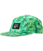 DNA Plant Printed Green 5 Panel Hat