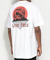 DROPOUT CLUB INTL. X Death Cloak Paradise camiseta blanca