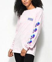 DROPOUT CLUB INTL. x Earth To Monica 3D Roses Long Sleeve T-Shirt