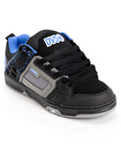 DVS Comanche Black, Grey & Blue Skate Shoe