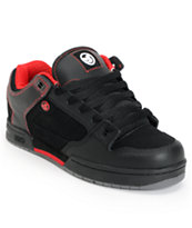 DVS Deegan Militia Black & Red Leather Skate Shoe
