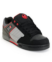 DVS Durham Black, Grey & Red Skate Shoe