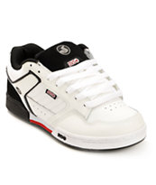 DVS Transom White & Black Skate Shoe