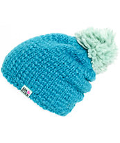 Dakine Alex Blue Plush Pom Beanie