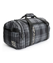 Dakine EQ Medium Columbia 51L Black Plaid Duffle Bag