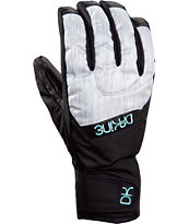 Dakine Girls Tahoe Silver Snowboard Gloves