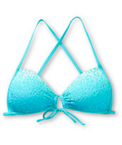 Damsel Aurelia Ombre Floral Overlay Molded Cup Bikini Top
