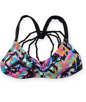 Damsel Aztec Blanket Macrame Back Bralette Bikini Top