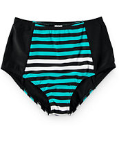 Damsel Colorblock Stripe High Waisted Bikini Bottom