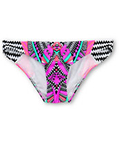 Damsel Jungle Book Geo Print Tab Side Bikini Bottom