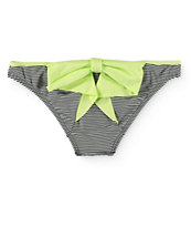 Damsel Lime Bow Mini Stripe Hipster Bikini Bottom