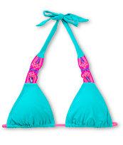 Damsel Macrame Jade Halter Bikini Top