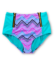 Damsel Magic Hour Manic Zip High Waisted Bikini Bottom