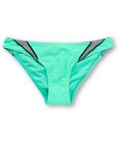 Damsel Mint Mini Stripe Basic Bikini Bottom