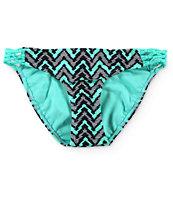 Damsel Paradox Chevron Macrame Tab Side Bikini Bottom