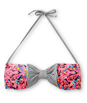 Damsel Shatter Proof Bow Bandeau Bikini Top
