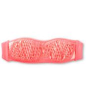 Damsel Slashed Coral Bandeau Bikini Top