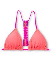 Damsel Sorbet Macrame Triangle Bikini Top
