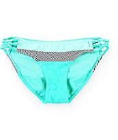 Damsel Stripe Colorblock Macrambe Tab Side Bikini Bottom