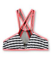 Damsel Textured Arrowhead Halter Bikini Top