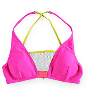 Damsel Vogue Colorblock Mesh Triangle Bikini Top