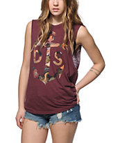 Dark Seas Anchor Anemone Muscle Tee
