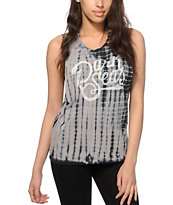 Dark Seas Flash Rate Indigo Tie Dye Muscle Tee