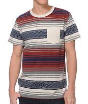 Dark Seas Hillman Grey Stripe Pocket Tee Shirt